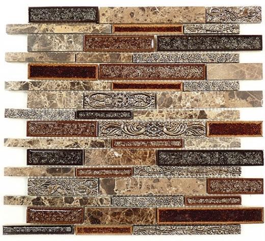 Buy Glass Tile Tranquil Random Brick Scottsdale Brass Ts 944