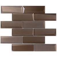 NewBev Bricks Bronze Glass Subway Tile