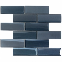 NewBev Bricks Dusk Glass Subway Tile