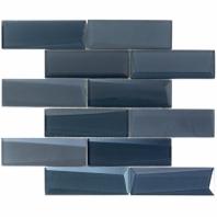 NewBev Bricks Dusk Glass Subway Tile
