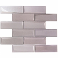 NewBev Bricks Sepia Glass Subway Tile