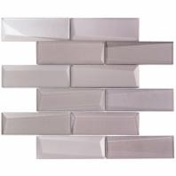 NewBev Bricks Sepia Glass Subway Tile