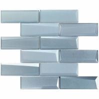 NewBev Bricks Slate Glass Subway Tile