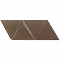 NewBev Triangles Bronze Glass Geometric Tile