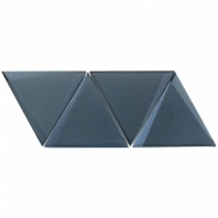 NewBev Triangles Dusk Geometric Glass Tile
