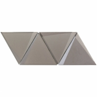 NewBev Triangles Sepia Geometric Glass Tile