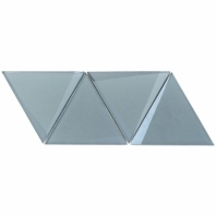 NewBev Triangles Slate Geometric Glass Tile