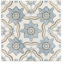 Décor Basma White 8x8 Porcelain Tile