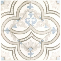 Décor Daiza White 8x8 Porcelain Tile