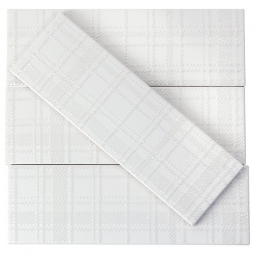 Soho Studio Tlntlndctywhm3x9 Grand White 3x9 Ceramic Subway Tile
