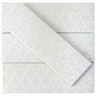 Soho Spring White Matte 3x9 Ceramic Subway Tile