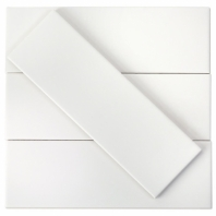 Soho White Matte 3x9 Ceramic Subway Tile
