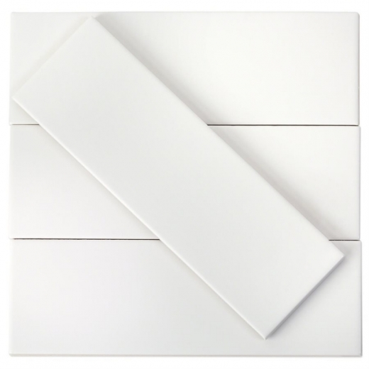 Soho Studio Tlntlndwhm3x9 White Matte 3x9 Ceramic Subway Tile