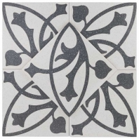 Novel Erte Blanco 9x9 Porcelain Moroccan Tile