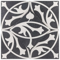 Novel Erte Nero 9x9 Porcelain Moroccan Tile