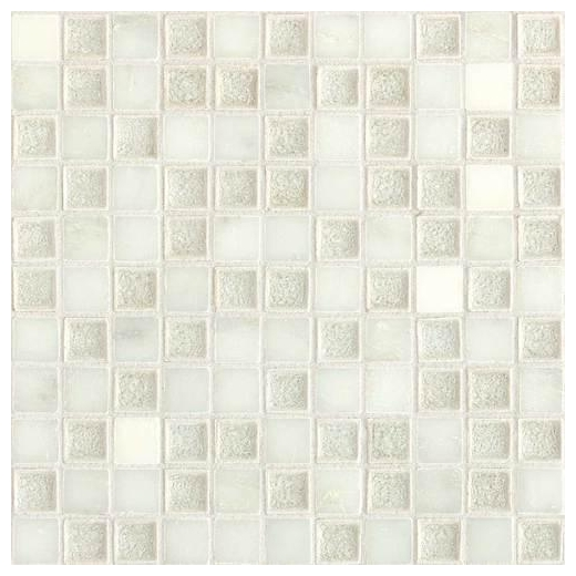 Daltile Aura Series Silver Cloud 1x1 Mosaic AU30