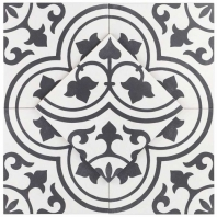 Havana White Ornate 9x9 Porcelain Moroccan Tile