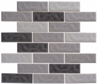 Harmony Series Vintage Gray Brick Interlocking Tile
