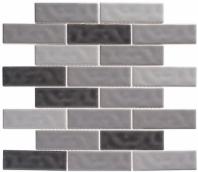 Harmony Series Vintage Gray Brick Interlocking Tile