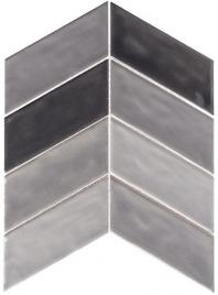 Harmony Series Vintage Gray Chevron Tile