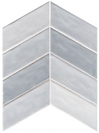 Harmony Series Fantasy Blue Chevron Tile