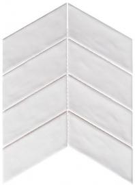 Harmony Series White Rock Chevron Tile