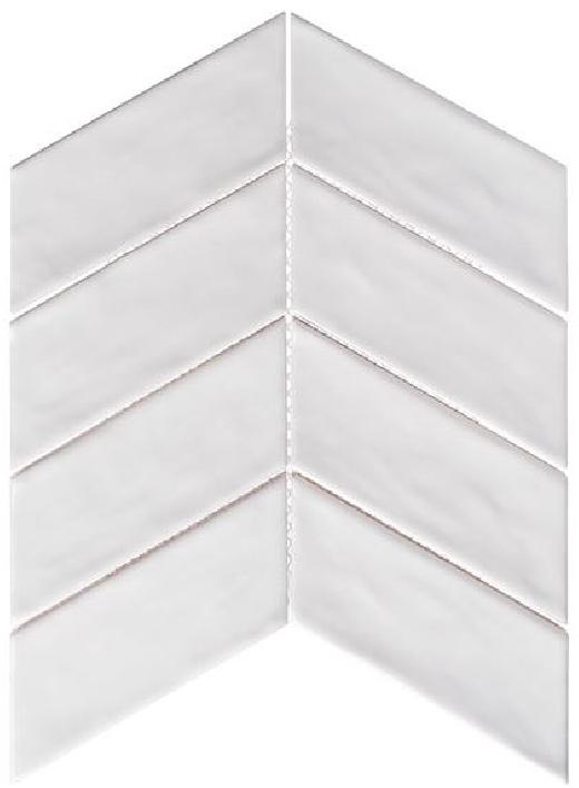 Glass Tile Hry9514 White Rock Chevron Tile