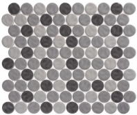 Harmony Series Vintage Gray Penny Round Tile