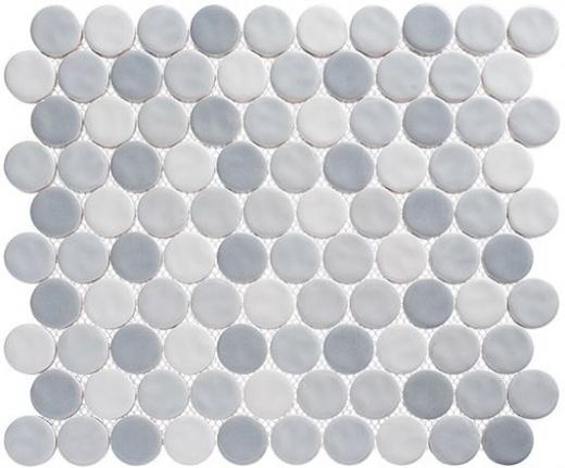 Harmony Series Fantasy Blue Penny Round Tile