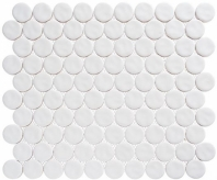 Harmony Series White Rock Penny Round Tile