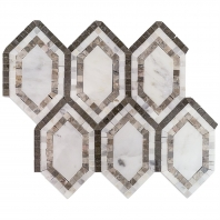 New Era Asian Long Hexagon Mosaic Tile by Soho Studio NERATMPGLAG