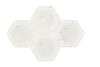 Marble Carrara White 6 Hexagon Polished Mosaic M701