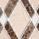 Glazzio Diamond Series Crema Marfil + Emperador Dark + Thassos White DS56