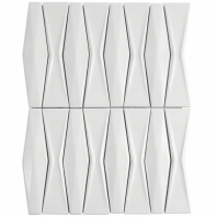 Baroque Adwick Blanco 3D Mosaic Tile BRQADWKBLNC