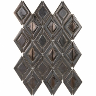 Baroque Ravello Copper 3D Mosaic Tile BRQRVLCPPR