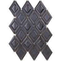 Baroque Ravello Gun Metal 3D Mosaic Tile BRQRVLGNMTL