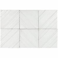 Baroque Tudor Blanco 6x6 Chevron Tile BRQTDRBLNC