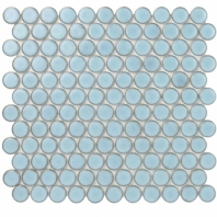 Denim 1 Inch Arctic Circles Pennyround Tile DNM1INCHARCTC