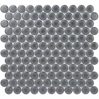 Denim 1 Inch Chard Black Circles Pennyround Tile DNML1INCHCHRDBLK