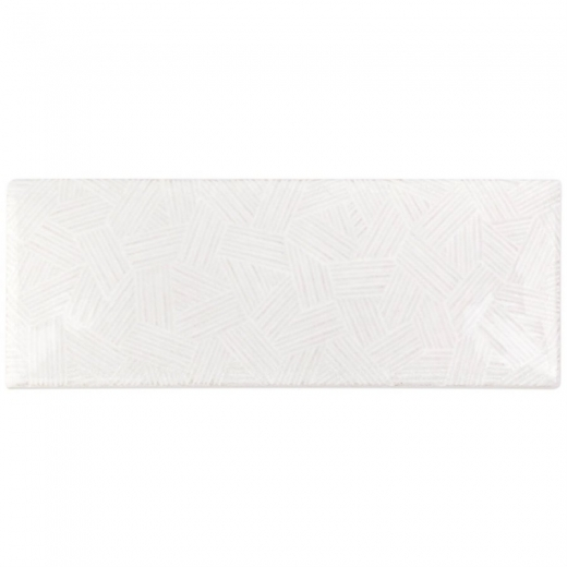 Deviation 3x8 Blanco Textured Mix Subway Tile DEV3X8BLCOTXMX