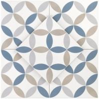 Hampton Floor Deco Mix 8x8 Moroccan Tile TLHRGHMPDCMIX8X8