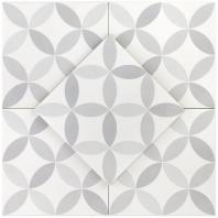Hampton Floor Deco Payne Grey 8x8 Moroccan Tile TLHRGHMPDCPG8X8