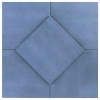 Hampton Floor Steel Blue 8x8 Moroccan Tile TLHRGHMPFLSB8X8