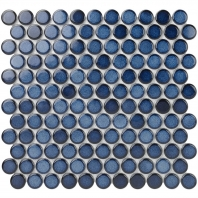 Denim 1 Inch Faded Cobalt Circles Pennyround Tile DNM1INCHFDCBLT
