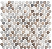 Urban Jungle Series Grey Prism Road Penny Round Tile UJ662
