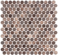 Urban Jungle Series Brown Cayman Penny Round Tile UJ665