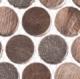 Urban Jungle Series Brown Cayman Penny Round Tile UJ665