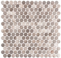 Urban Jungle Series Truffle Corner Penny Round Tile UJ666