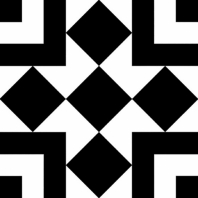 Retro Neuve Series Checker Blocks Moroccan Tile 9213