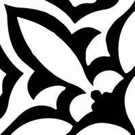 Retro Neuve Series Fleur Noir Moroccan Tile 9214